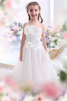 Pretty A Line Spaghetti Strap Floor Length Taffeta Ivory Flower Girl Dress CKZA13005  $79.00  Flower Girl Dress, Flower Girl Dress,Flower Girl Dress, Flower Girl Dress, Flower Girl Dress, Flower Girl Dress