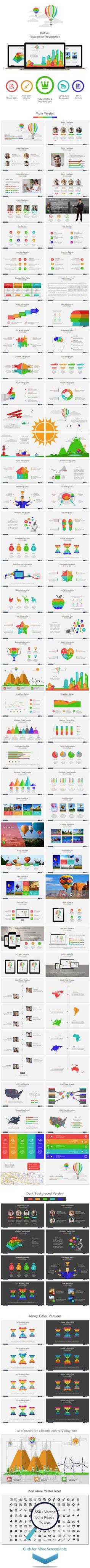 Balloon Powerpoint Template #design #slides Download: http://graphicriver.net/item/balloon-powerpoint/13584736?ref=ksioks