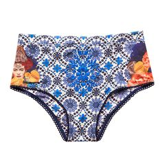 Carmen hi-waisted blue with Frida