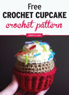 This Crochet Cupcake Pattern can be a nice alternative to the usual plastic or rubber toys. It's soft and less of a danger to young kids who like to throw things around.