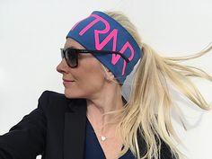 Midnight Blue & Pink headband / pannebånd / panneband / pannband
