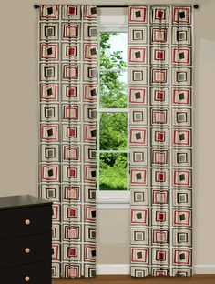 Modern curtains & drapes for every window in your home. Searching for contemporary chic or trendy and upbeat? Sheer Drapes, Drapes Curtains, Retro Curtains, Mid Century Modern Curtains, Living Room Drapes, Modern Windows, Vintage Trailers, Mid Century Furniture, Furniture Decor