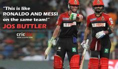 AB-Kohli Are The Ronaldo-Messi Of The Cricket! Ogether they have scored 1,349 runs this season for Royal Challengers Bangalore (RCB). It is risk-free to name AB de Villiers and Virat Kohli as two of the finest batsmen of this iteration. RCB's bowling displays have been average and these two prime guys have fuelled RCB's development as far as the ...