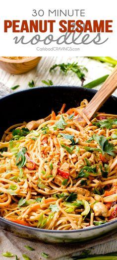 Hone sriracha chicken noodles