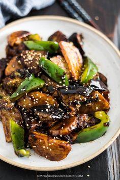 Di San Xian (Fried Potato Eggplant and Pepper in Garlic Sauce Mein Blog: Alles rund um Genuss & Geschmack Kochen Backen Braten Vorspeisen Mains & Desserts!