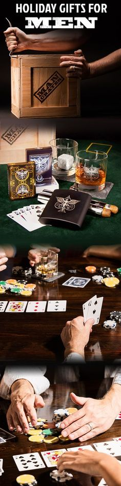 Whiskey and cards? This gift is pure genius! #ManCrates