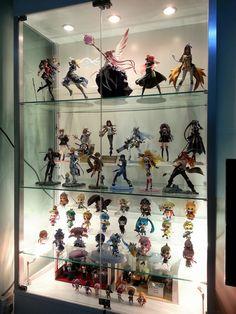 evenly raised Game Room Decor, Room Setup, Casa Anime, Geek Room, Otaku Room, Cute Room Ideas, Toy Display, Kawaii Room, Game Room Design