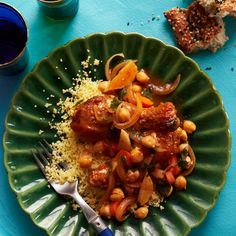 Couscous with Chicken and Chickpeas Recipe - Quick From Scratch One-Dish Meals | Food & Wine