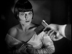 """Kill yourself, before You make me a murderer as well"". Lulu in peril, ""Pandora's Box"" Starring Louise Brooks."