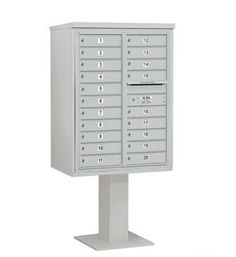 4C Pedestal Mailbox (Includes 26 Inch High Pedestal and Master Commercial Lock) - 11 Door High Unit (69-1/8 Inches) - Double Column - 20 MB1 Doors - Gray by Salsbury Industries. $1330.16. 4C Pedestal Mailbox (Includes 26 Inch High Pedestal and Master Commercial Lock) - 11 Door High Unit (69-1/8 Inches) - Double Column - 20 MB1 Doors - Gray - Salsbury Industries - 820996455321