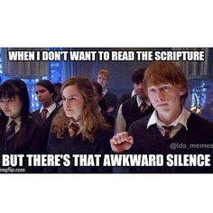 Pin for Later: The Many Faces of Ron Weasley Knockin' Ron Ron and Hermione kick it in Harry Potter and the Order of the Phoenix. Funny Church Memes, Funny Mormon Memes, Church Jokes, Lds Memes, Lds Church, Lds Quotes, Hilarious Memes, Hermione, Saints Memes
