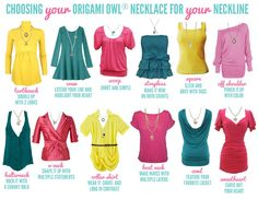 Choosing your Origami Owl necklace for your neckline!