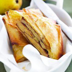 Découvrez la recette brick foie gras et pommes  sur cuisineactuelle.fr.