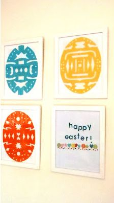 Instead of cutting paper snowflakes, snowflake Easter eggs. So fun and easy!