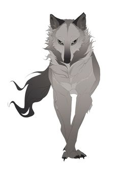 This is Jerrica. In wolf form. She is fierce and the sister to Percy and Margot. She is rude and snappy. She likes to pick on Lacie, the nymph. She is the daughter of the Wolf Lord. Anime Wolf, Fantasy Wolf, Fantasy Art, Fantasy Creatures, Mythical Creatures, Animal Drawings, Cool Drawings, Animal Sketches, Wolf Hybrid