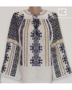 All the embroidery is manually made. It takes up to 4 weeks to complete the embroidery for a nlouse like this. The needle passes more than 100.000 times through the fabric. worldwide shipping #vyshyvanka #romanianblouse #ia #ieromaneasca #bohostyle