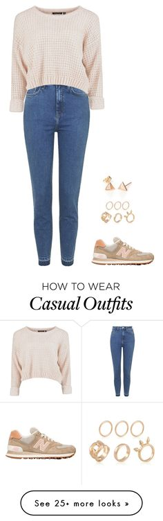 """Casual Outfit"" by mayalexia on Polyvore featuring New Balance, Topshop, women's clothing, women's fashion, women, female, woman, misses and juniors"