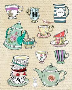 Tea Cups illustration by mihaela8