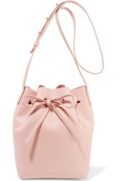 mansur gavriel pastel-pink mini bucket bag