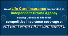We at Life Care Insurance Ontario (Affordable Insurance Agency) provides best consultation for super visa insurance , life insurance affordable insurance , dental insurance, super visa health insurance , lowest insurance premiums , Canada travel medical insurance , long term care insurance .