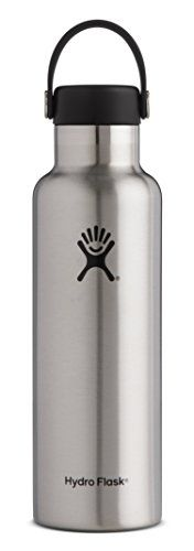 Hydro Flask 24 oz Double Wall Vacuum Insulated Stainless Steel Leak Proof Sports Water Bottle, Standard Mouth with BPA Free Flex Cap, Stainless. For product info go to:  https://all4hiking.com/products/hydro-flask-24-oz-double-wall-vacuum-insulated-stainless-steel-leak-proof-sports-water-bottle-standard-mouth-with-bpa-free-flex-cap-stainless/