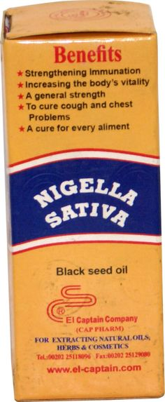 myHenna.US - Nigella Sativa Black Seed Oil El Capitan Habet El Baraka, $4.99 (https://www.myhenna.us/health-beauty/personal-care/nigella-sativa-black-seed-oil-el-capitan-habet-el-baraka/)