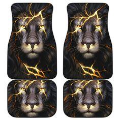 Lion Car Mats Lion King Art, Lion Art, Car Mats, Car Floor Mats, Car Covers, Unique Cars, Lightning Bolt, Quilt Bedding, Gifts For Family
