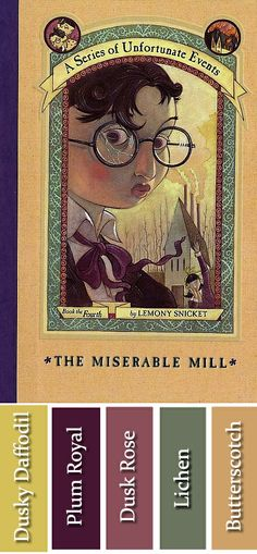 The Miserable Mill book cover color palette by Morgan