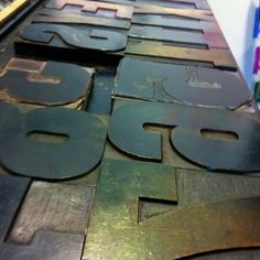 Letterpress type at Plymouth University