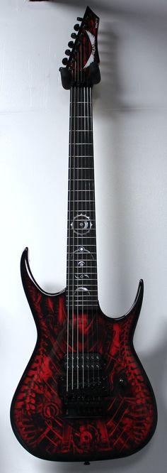 Dean USA Custom RC7 Bare Knuckle 7-String Red Xenocide