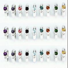 ¿Busca el color de tu Sentimiento?  Colección Sentimientos un color para cada sentimiento, sortijas en plata con piedras semipreciosas Color, Jewel Box, Sterling Silver, Feelings, Colour, Colors