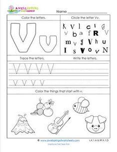 words starting with letter v education preschool letters letter v letter v worksheets. Black Bedroom Furniture Sets. Home Design Ideas