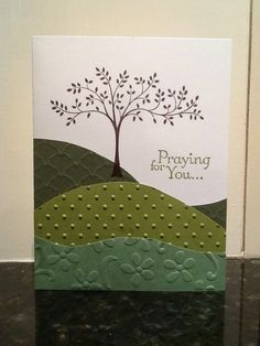 "Handmade Sympathy ""Praying For You"" Card Made With All Stampin' Up Products"