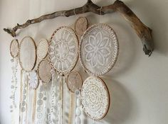 """45"""" Vintage Bohemian Dream catcher Wall Hanging Boho Dreamcatcher - Free Shipping  Product Description: This one-of-a-kind bohemian woodland style dream catche"""