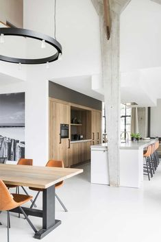 Loft House, Interior Inspiration, New Homes, Bed, Table, Furniture, Kitchens, Room Ideas, Home Decor