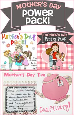 Mother's Day Activities - Power Pack!
