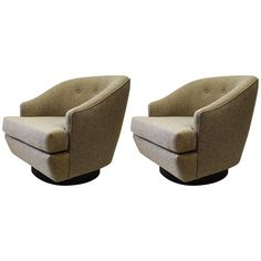 Harvey Probber Pair of Swivel Chairs 1 Antique Furniture, Modern Furniture, Club Chairs, Lounge Chairs, Mid-century Modern, Modern Lounge, Light Beige, Swivel Chair, Accent Chairs