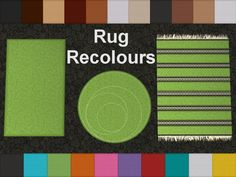 Mod The Sims - Rug Recolours