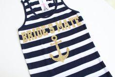 Nautical Tank Top. Brides Mates Shirts. Brides Mates by ArenLace