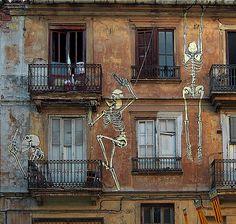 Balcony skeletons.