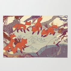 Fisher Fox Area & Throw Rug