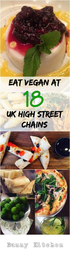 How to Eat Vegan Stress Free at 18 UK High Street Chains! #vegan #restaurants #roundup