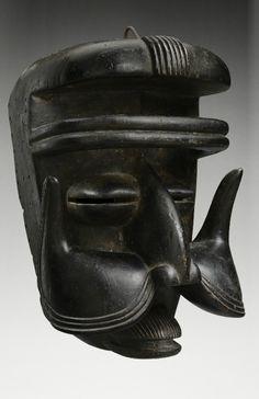 Bete Mask. Ivory Coast | Wood, metal | Early 20th century