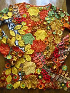 """Блузки ручной работы. Ярмарка Мастеров - ручная работа Платье """"Золотая осень"""". Handmade."""