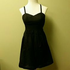 Kensie little black dress 60% Cotton.  40% Silk.   Adjustable straps.  Lightweight and so comfortable! Kensie Dresses Mini