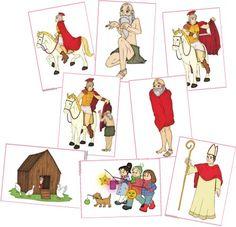 Bildkarten St. Martin (kostenpflichtig) Fete Saint Martin, Bible Crafts, Crafts For Kids, Hl Martin, Kindergarten Portfolio, Christian Crafts, Stuffed Animal Patterns, 4 Kids, Art Education