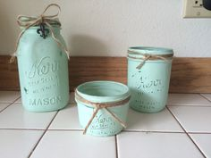 Handmade painted jars $15.00