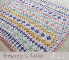 Lanas de Ana: shares a lovely #crochet Blanket: Granny's Love
