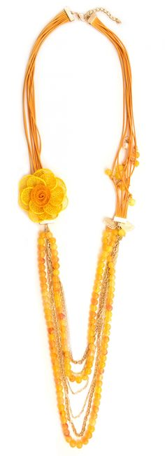 """Colier """"Yellow flower"""" - Meli Melo - Paris Meli Melo, Yellow Flowers, Beaded Necklace, Paris, Summer, Collection, Jewelry, Fashion, Beaded Collar"""