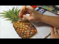 Pinturas e Aulas de Pintura em Geral | Cantinho do Video                                                                                                                                                                                 Mais Acrylic Painting Tutorials, Painting Videos, Painting Tips, Fabric Painting, Fabric Art, Acrylic Painting Flowers, Fruit Painting, One Stroke Painting, Colour Pencil Shading